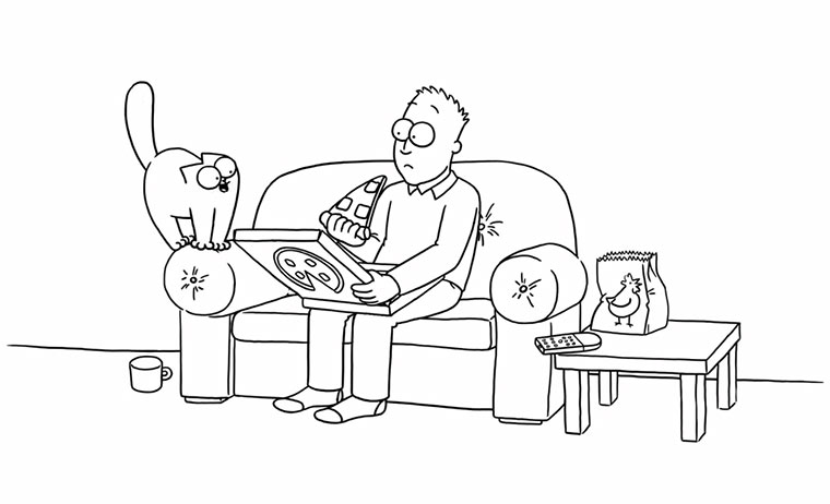 Pizza Cat – Simon's Cat