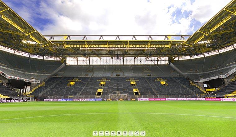 360-Grad-Ansicht des Westfalenstadions
