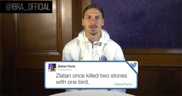 Ibrahimovic liest #ZlatanFacts zlatanfacts