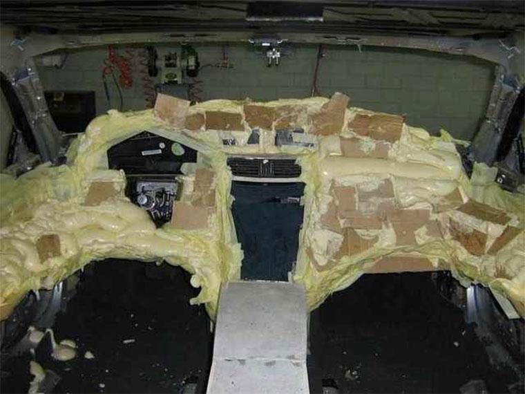 Autotuning mit Bauschaum und Pappe Bauschaumtuning_10