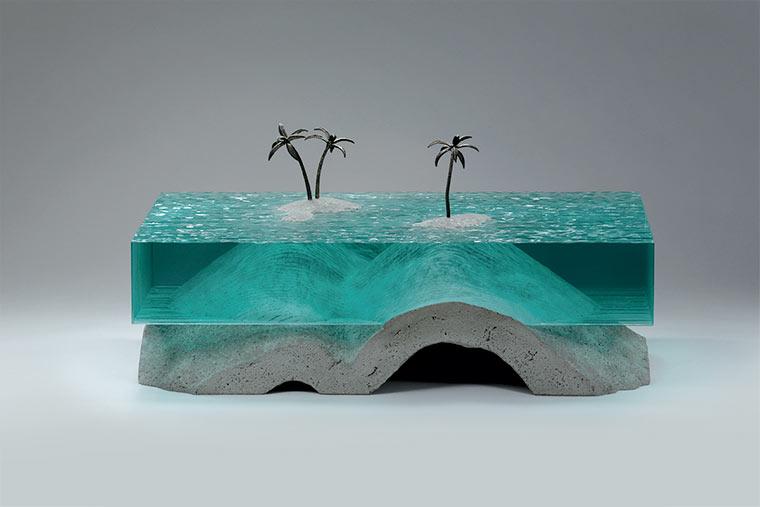 Wasser-Skultpuren aus Glasplatten Broken-Liquid_02