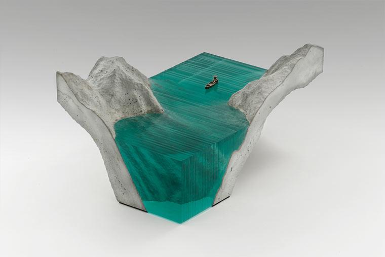Wasser-Skultpuren aus Glasplatten Broken-Liquid_04