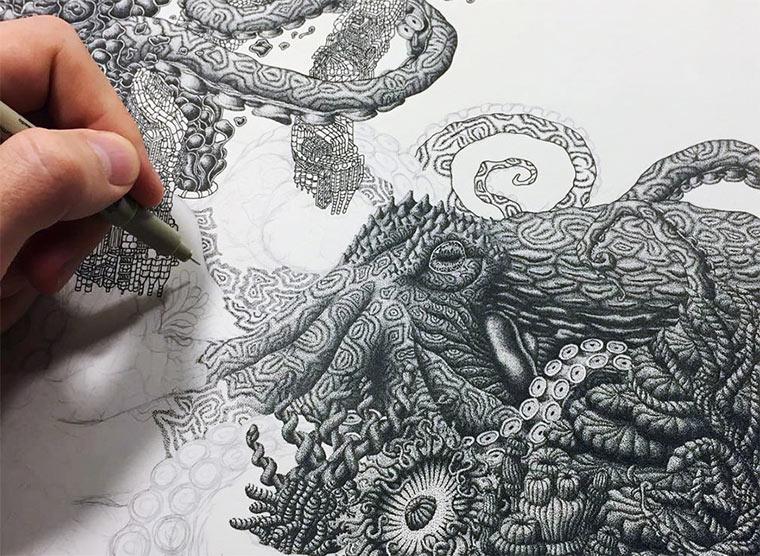 Illustration aus Millionen Punkten