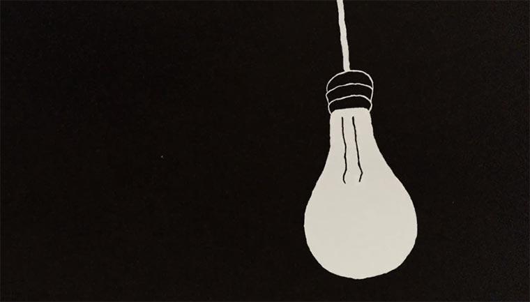 Minimalistisch animierte Geschichte des Lichts Light