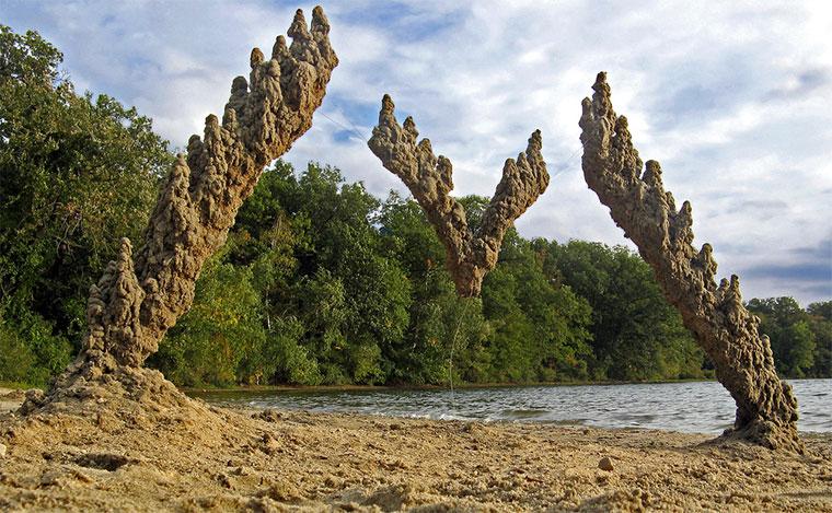 Schwebende Sandburgen