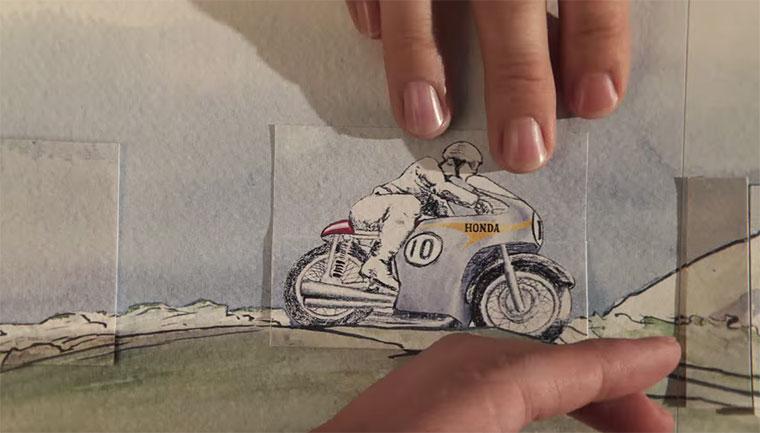 PES Stopmotion: Honda Paper PES-Honda-Paper