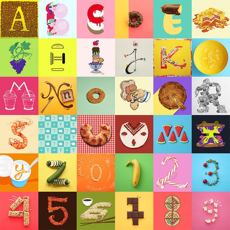 Illustriertes Snack-Alphabet Snack-Alphabet_08