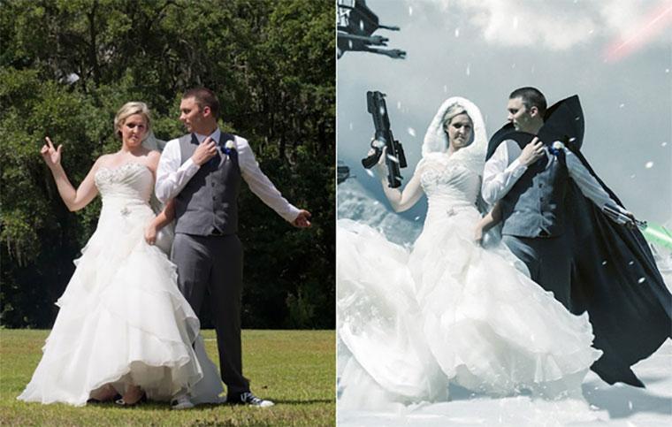 In 12 Stunden zum Star Wars-Hochzeitsfoto Star-Wars-Wedding