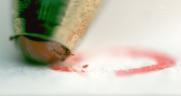 Kugelschreiberkugelnahansicht ballpoint-close-up