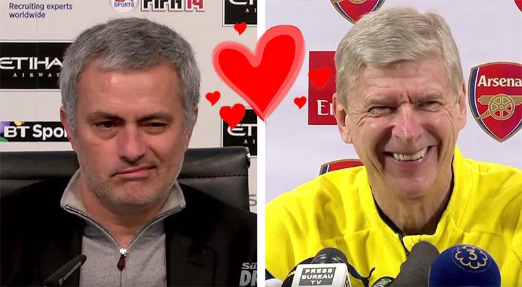 Mourinho und Wenger in Love! wenger-mourinho_love