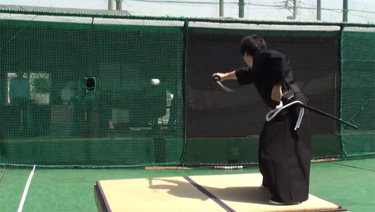 Samurai vs. 160 km/h-Baseball