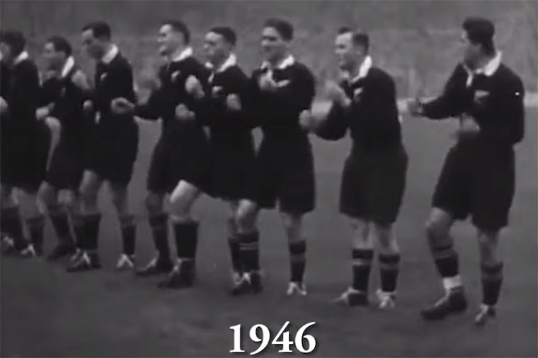 Entwicklung des All Blacks Haka Haka-in-time