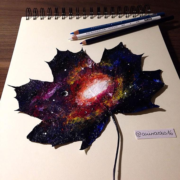 Bemalte Herbst-Blätter Joanna-Wirazka_06