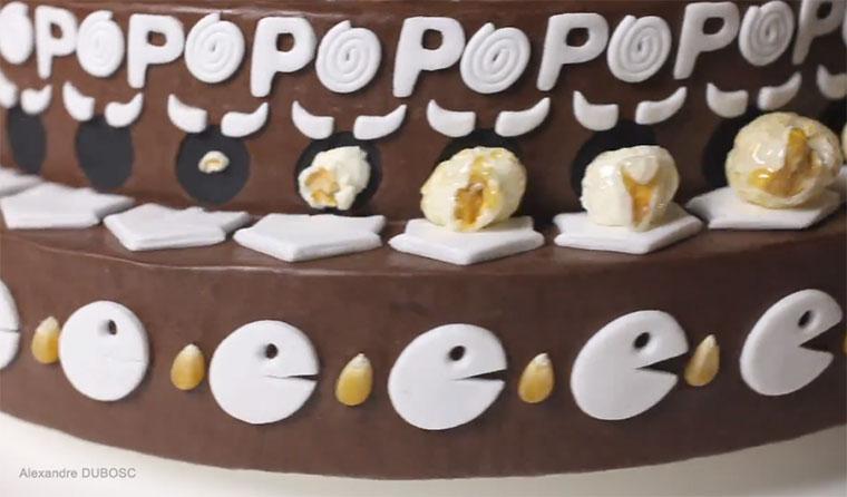 Schokokuchen-Popkorn-Zoetrope