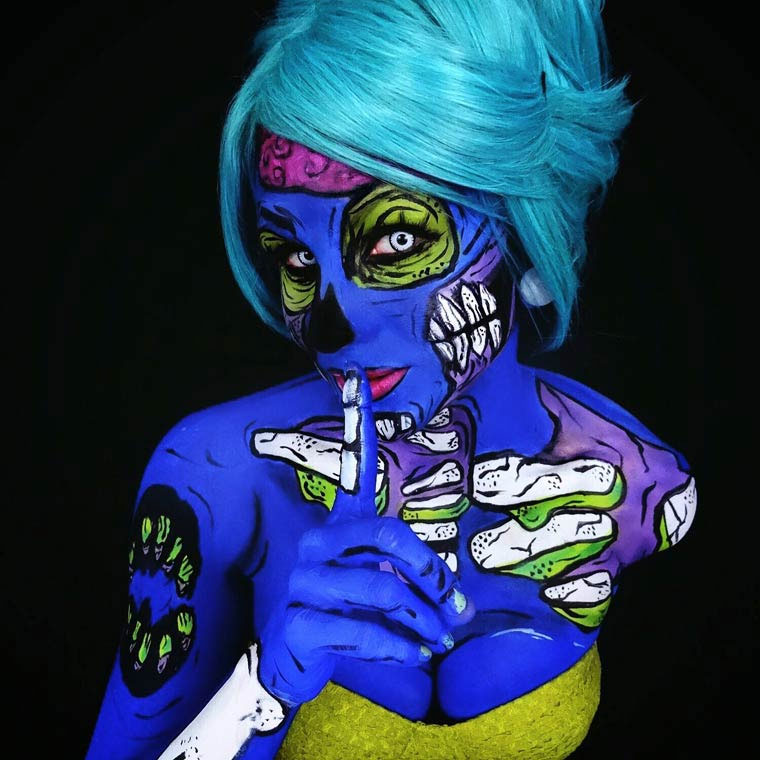 Monsterliche Bodypaintings TwistinBangs_07