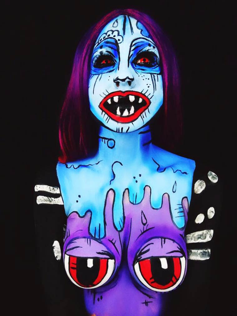 Monsterliche Bodypaintings TwistinBangs_08