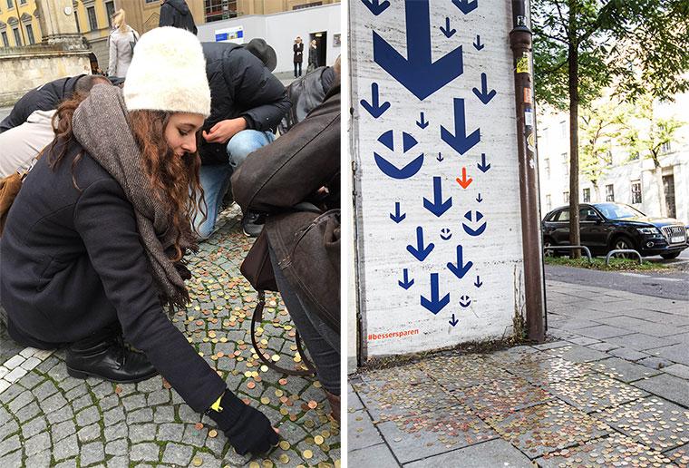5.000 Euro Kleingeld auf Münchener Straßen Bessersparen-WeltSparTag_02