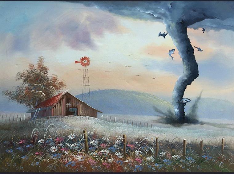 Popkultur in klassischen Gemälden Dave-Pollot_07