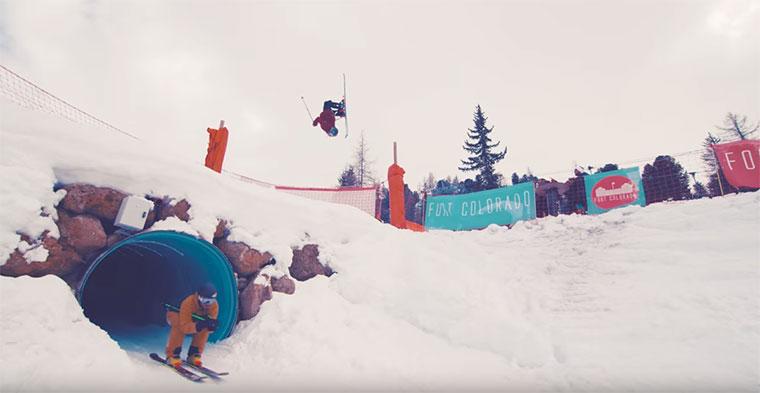 Trickreiche Ski-Verfolgungsjagd