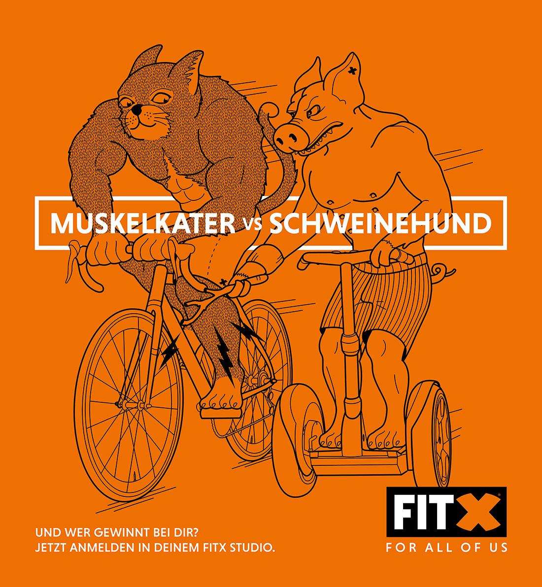 Muskelkater vs. Schweinehund - wer gewinnt? FitX_Muskalkater-vs-Schweinehund_02