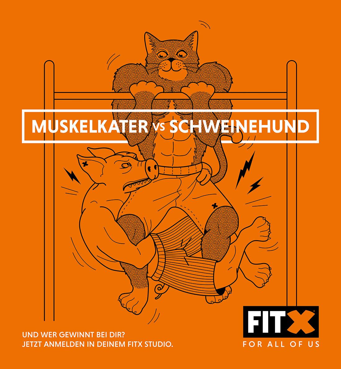 Muskelkater vs. Schweinehund - wer gewinnt? FitX_Muskalkater-vs-Schweinehund_03