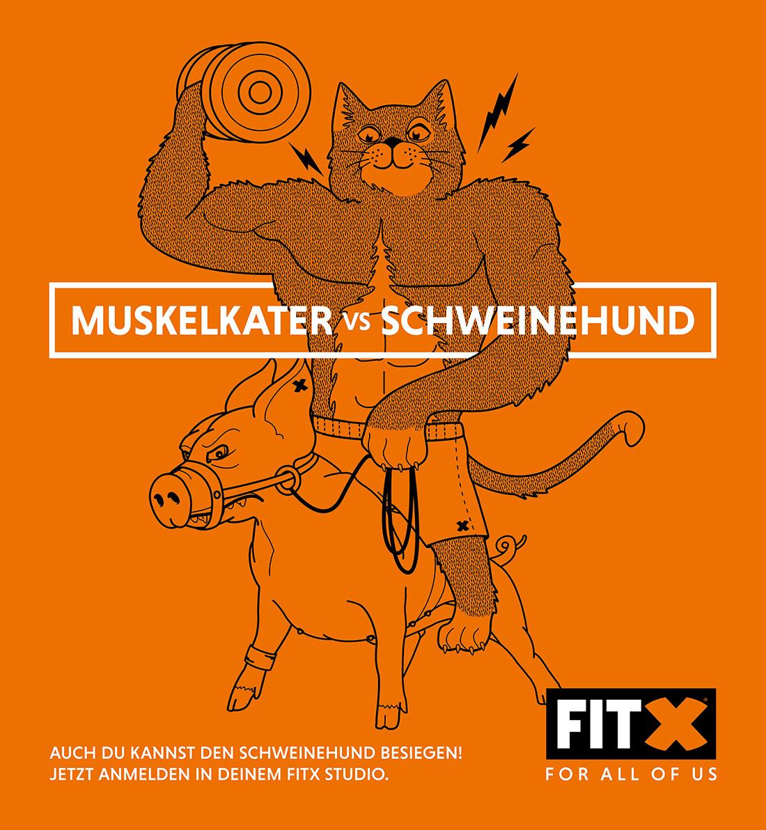 Muskelkater vs. Schweinehund - wer gewinnt? FitX_Muskalkater-vs-Schweinehund_04