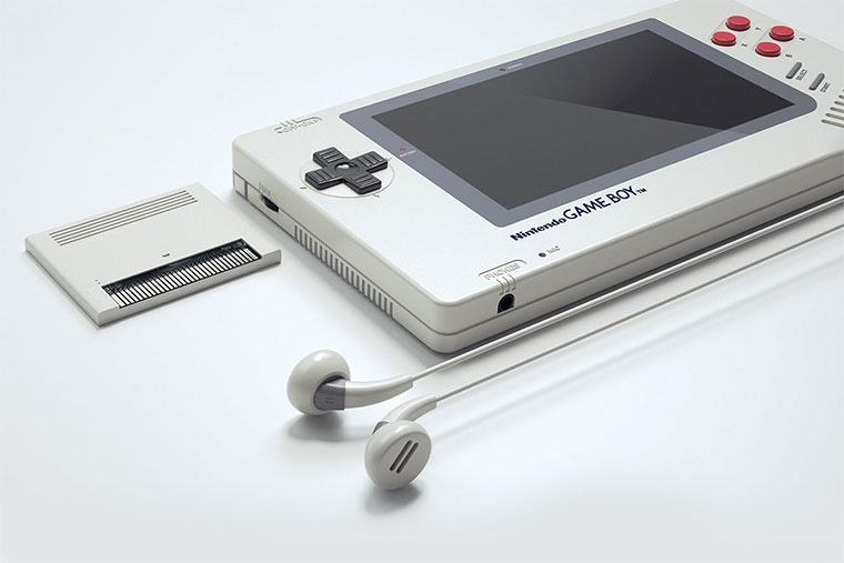 GAME BOY 1up Design-Konzept