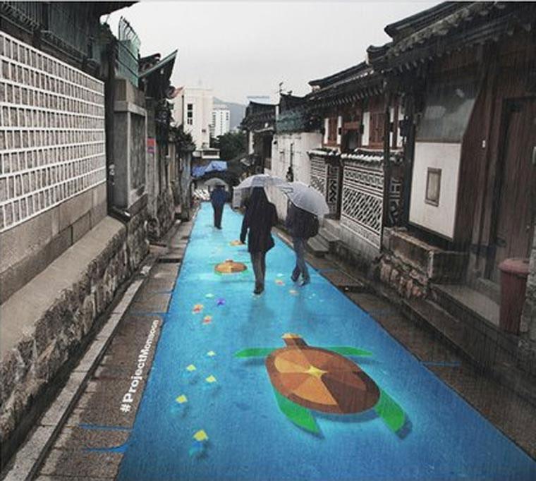 Straßenkunst kommt bei Regen zum Vorschein Project-Monsoon_02