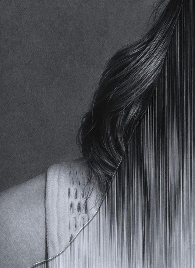 Gezeichnete Portraits gesprungenen Glases Taisuke-Mohri_09