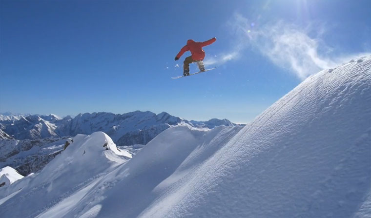 Snowboarding: projectDETOUR - Alps projectDETOUR-alps