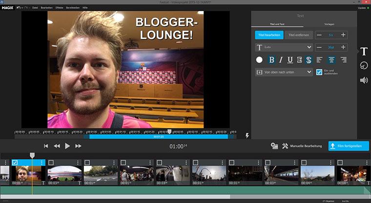 MAGIX Fastcut zaubert superfix Videocollagen