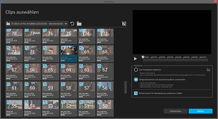 MAGIX Fastcut zaubert superfix Videocollagen Fastcut_03