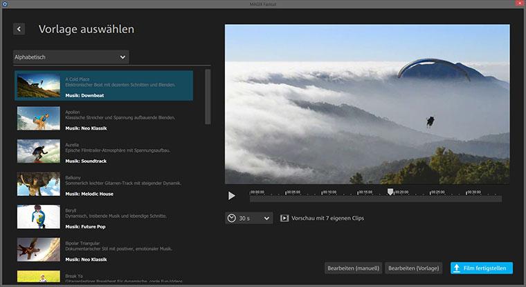 MAGIX Fastcut zaubert superfix Videocollagen Fastcut_04