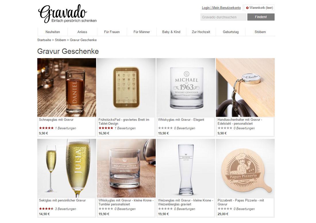 Gewinnt Gravado-Geschenk-Gutscheine Gravado-geschenke