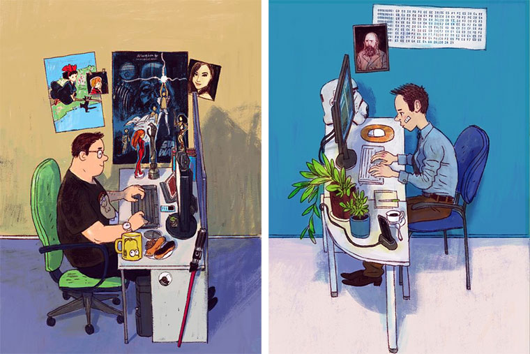 Schreibtisch-Stereotypen IT-Characters_01
