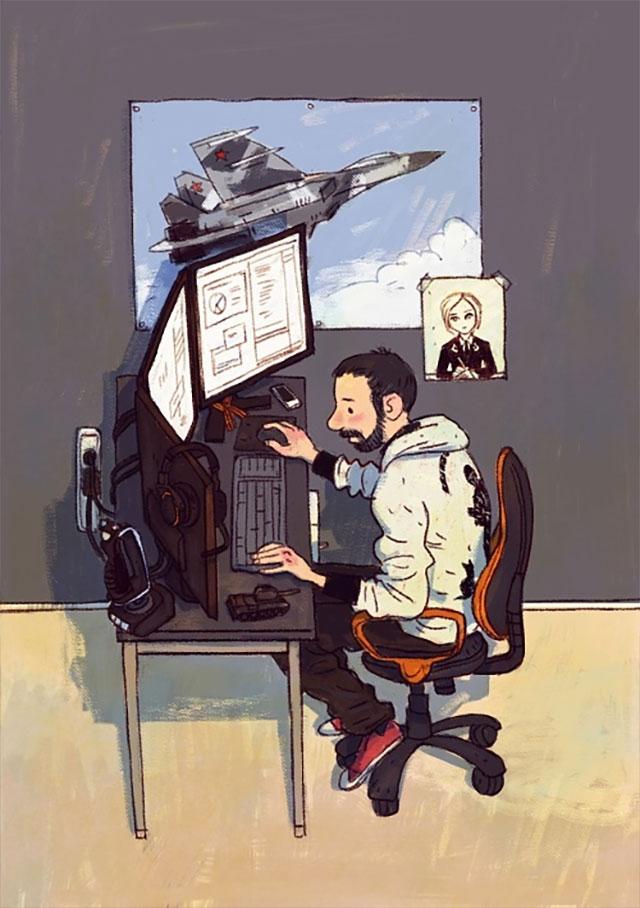 Schreibtisch-Stereotypen IT-Characters_03