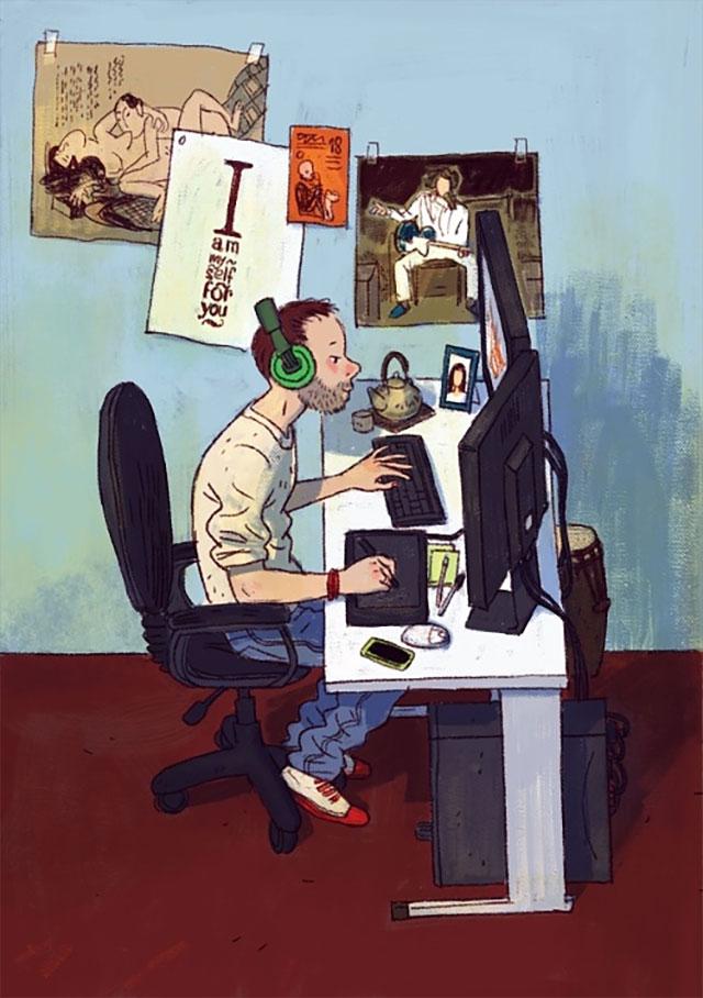 Schreibtisch-Stereotypen IT-Characters_04