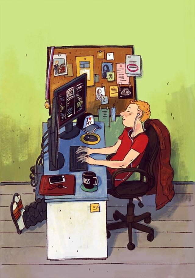 Schreibtisch-Stereotypen IT-Characters_05