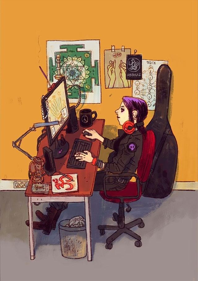 Schreibtisch-Stereotypen IT-Characters_09
