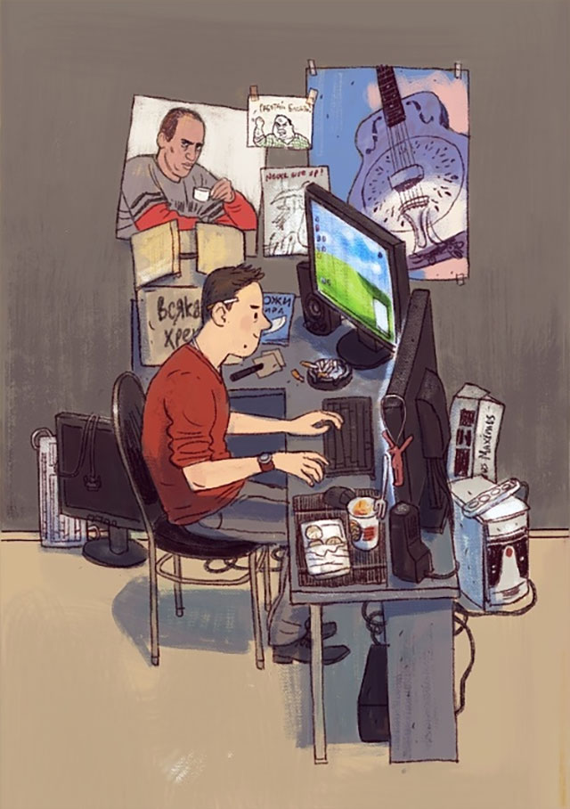Schreibtisch-Stereotypen IT-Characters_10