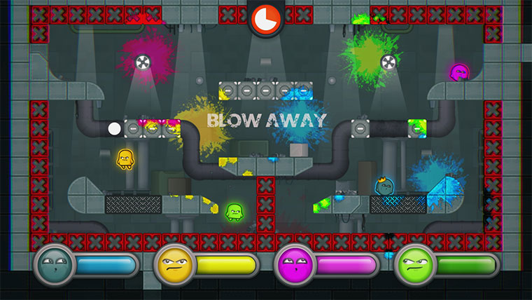 Multiplayer-Spiel: Move or Die Move-or-Die