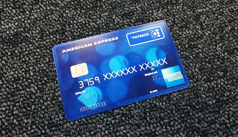 Unterschrift American Express Karte.Die Payback American Express