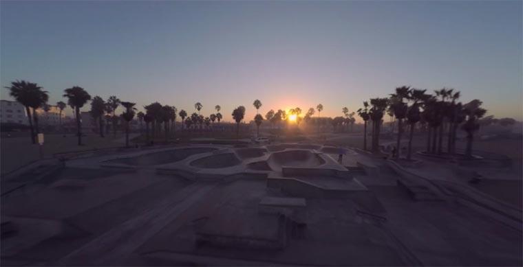 Mit der Kameradrohne über Venice Beach Rise-and-Shine