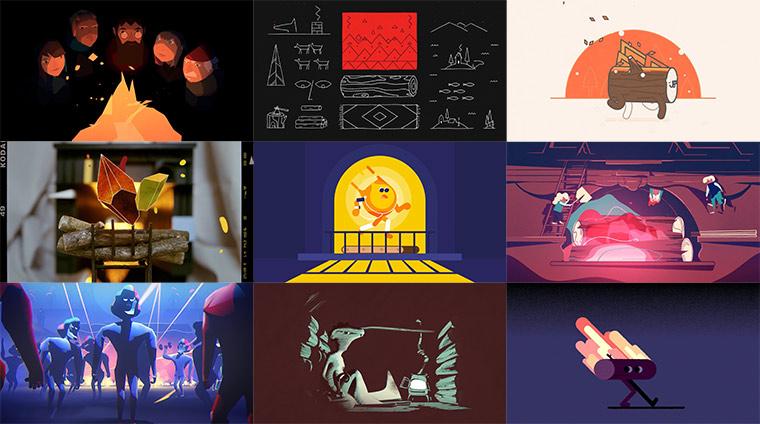 Ganz viele animierte Kamine Yule-Log-2015