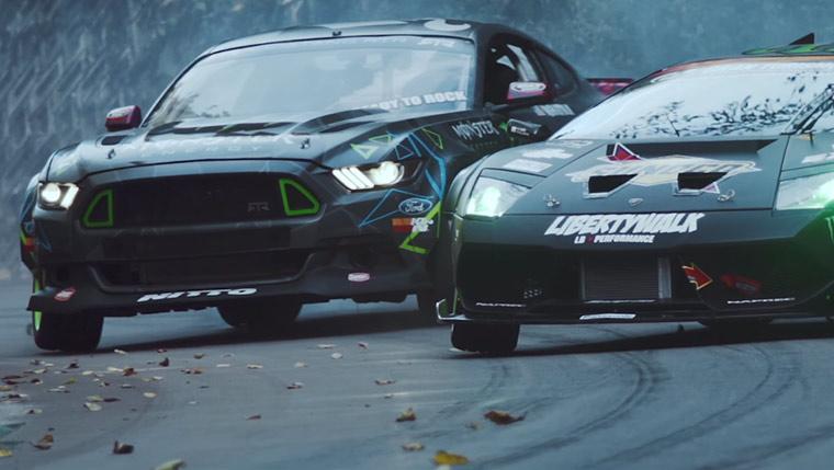 Drifting: Lamborghini vs. Mustang