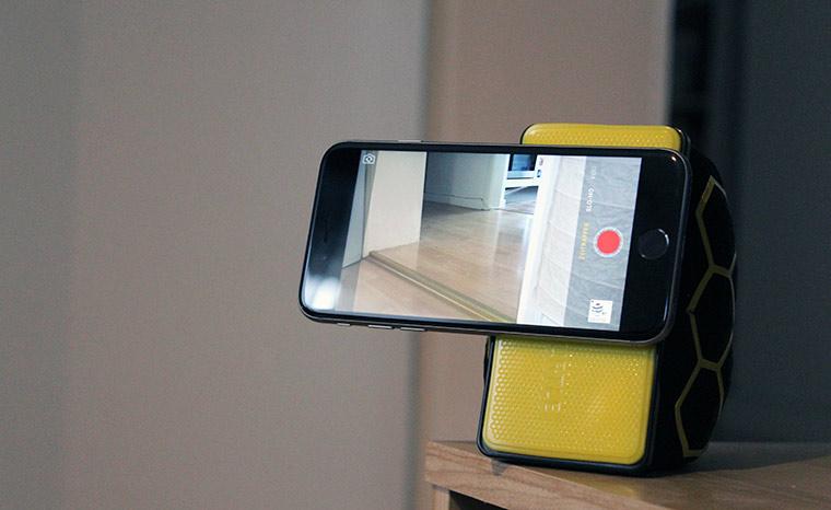 SmartTurtle: Sitzsack trifft Device-Halterung smartturtle-test_01