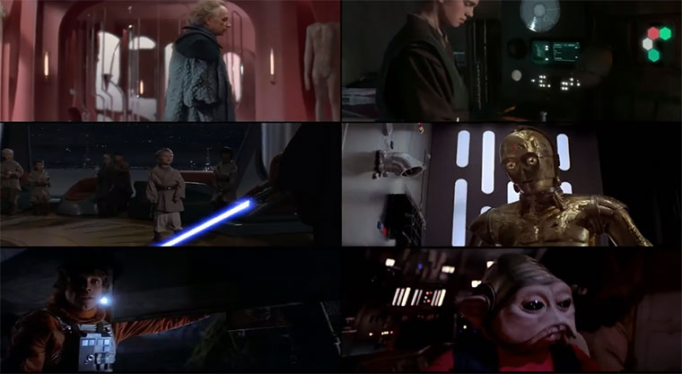 Star Wars: Anti-Cheese Edit & 6 Teile gleichzeitig star-wars-all-six-films