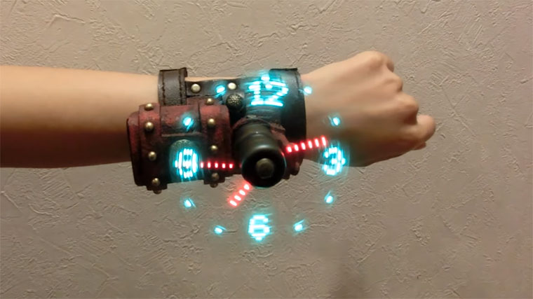 Steampunk Hologram-Armbanduhr