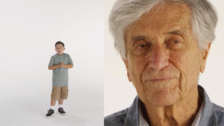 Leute von 0-100 Jahre sagen, was sie glücklich macht 0-100-happy
