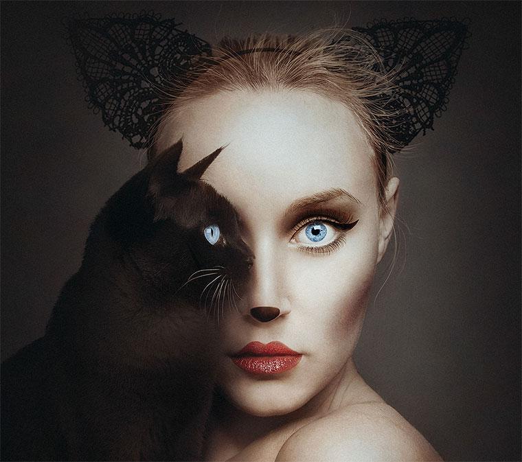 Ein Auge Mensch, ein Auge Tier